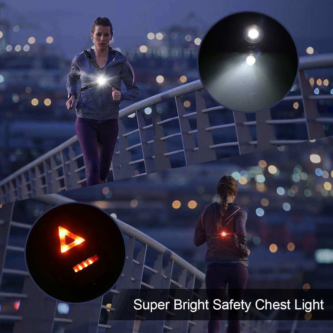 Running Jogging Chest Led Running Lights Night Light for Runners Joggers Walking