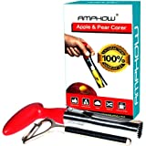 Apple Corer & Skin Remover Kits - AMPHOW Stainless Steel Apple or Pear Core Remover Tool for Home Kitchen with Sharp Serrated Blade