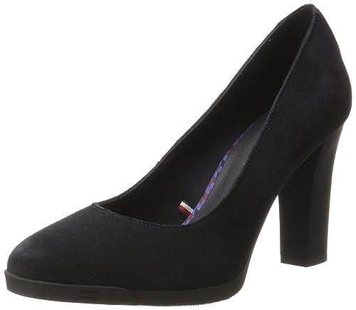 Tommy Hilfiger N1285anni 1b, Zapatos de Tacón para Mujer, Azul (Midnight), 41 EU: Amazon.es: Zapatos y complementos