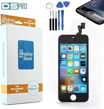 DS PRO 5sbk Service Pack – Pantalla Compatible con iPhone 5s Screen + Pantalla LCD AAA Grade Negro, Juego de Herramientas, Protector, Instrucciones para desmontaje y Montar.: Amazon.es: Electrónica