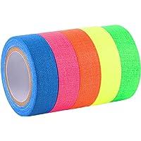 6 stuks fluorescerende tape, neon plakband, fluorescerend weefselband, 5 m x 1,5 cm, tape neon fluorescerend plakband in…