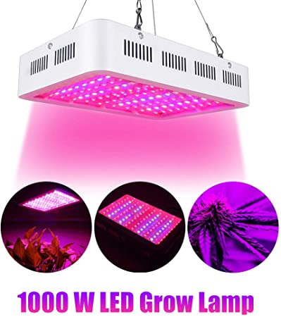 Aokrean 1000W CREE COB LED Plant Light for Indoor Plants Full Spectrum with Daisy Chain Grow Light Plant Grow Lamp for Greenhouse Hydroponics with Veg Bloom Switch