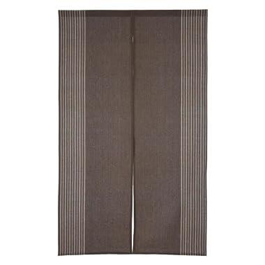 Noren Japanese Doorway Curtain Raku Brown Cotton 85x150cm