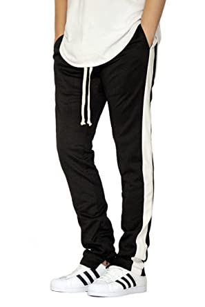 76f7d4cf4 EPTM Men's Black/White Techno Track Ankle Zipper Pants (2XL) at ...