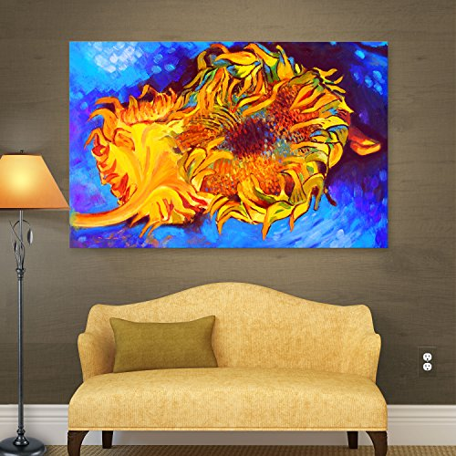 Art Wall 'Two Sunflowers by Vincent Van Gogh' by Susi Franco Gallery Wrapped Canvas Artwork, 36 by - Warwick Stores In Ri