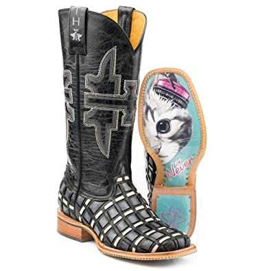 cc614056d39 Amazon.com | Women's Tin Haul Checkered Past Boots with Meow Or ...