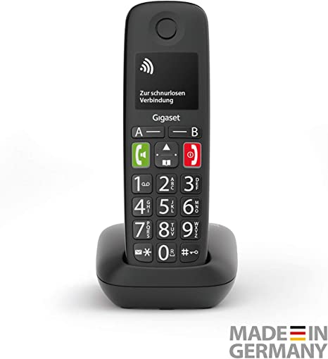 Gigaset E290HX Teléfono DECT Negro E290HX, Teléfono DECT, Terminal inalámbrico, Altavoz, 150 entradas, Negro: Amazon.es: Electrónica