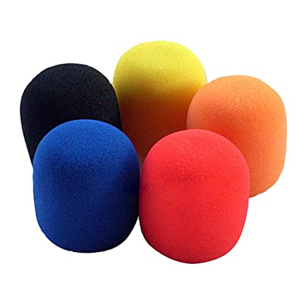 Amazon com: NiceTQ 5 Pack Assorted Multi Colors Foam Microphone