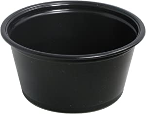 Sold Individually Solo Plastic Portion Container for Food Beverages & Crafts, 2.0 oz, Black