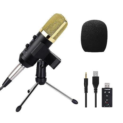 2 opinioni per Tonor 3.5mm Microfono a Condensatore per Tramissione Vocale Eco Cantare