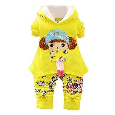 2fd8bdd7052e6 Robemon✬Noël Hiver Ensemble Bébé Fille Garçon Vêtement Manches Long Fille  de Tête Explosion Hoodies