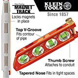 Torpedo Level, Magnetic, 4 Vial for Conduit Bending & More with V-Groove & Magnet Track Klein Tools 935AB4V