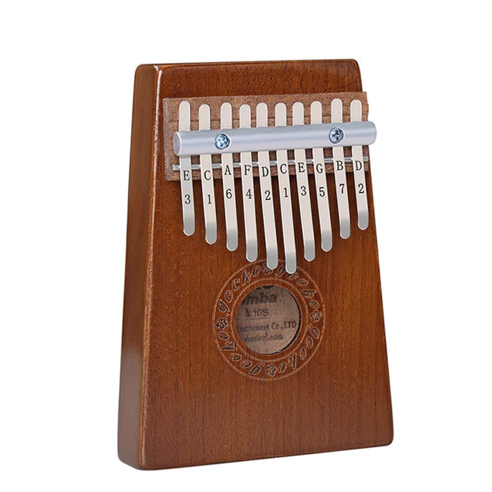 MG.QING Kalimpa 10 Key Mahogany Thumb Piano Beginner Finger Piano Wooden Instrument Xylophone