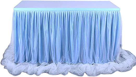 Caingmo Falda de Mesa de Tul de Color Caramelo de 1,8 m para Mesa ...