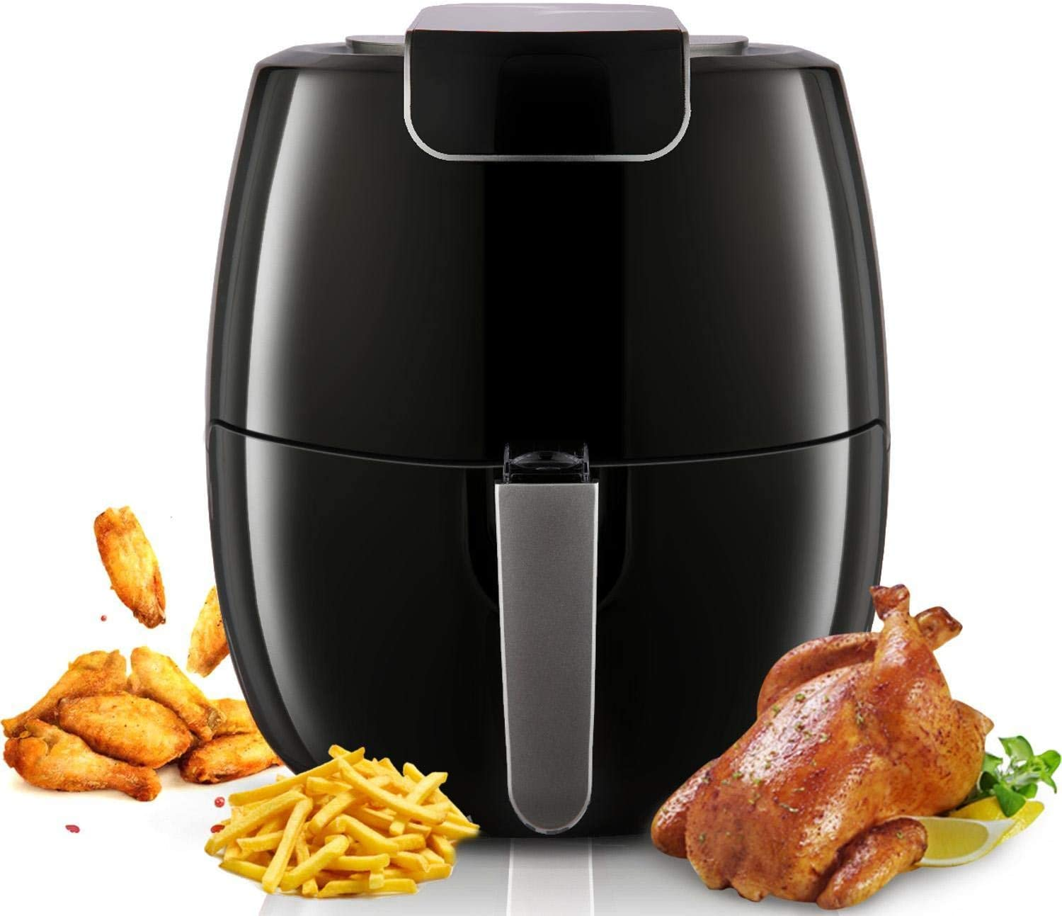 TOOLUCK Air Fryer, 1800W 6.5L Power Digital Air Fryer Oven Cooker With Touchscreen,Non-stick Detachable Pan,Adjustable Temperature(up to 392℉) And 30 Minutes Timer For Healthy Oil And Low Fat Cooking