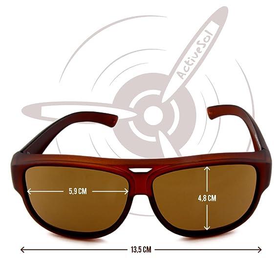 SUR-LUNETTES DE SOLEIL Active Sol design   Aviateur - Lunettes de pilote    Surlunettes à protection UV400   polarisées (Marron)  Amazon.fr  Sports et  ... 7cb3dea04a38