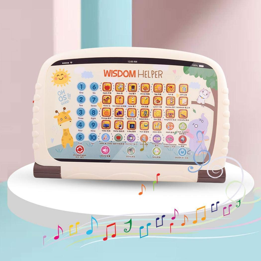 Asatr Children's Early Education Toy Learning Chinese English Reading Tablet Toy Electronic Systems by Asatr (Image #3)