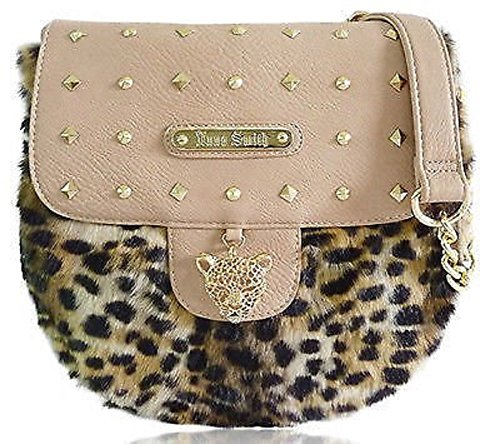Studs Designer Handbag Ladies LYDC Leopard Furry Bag Nude Massenger Women Anna Smith 6q0qwF5