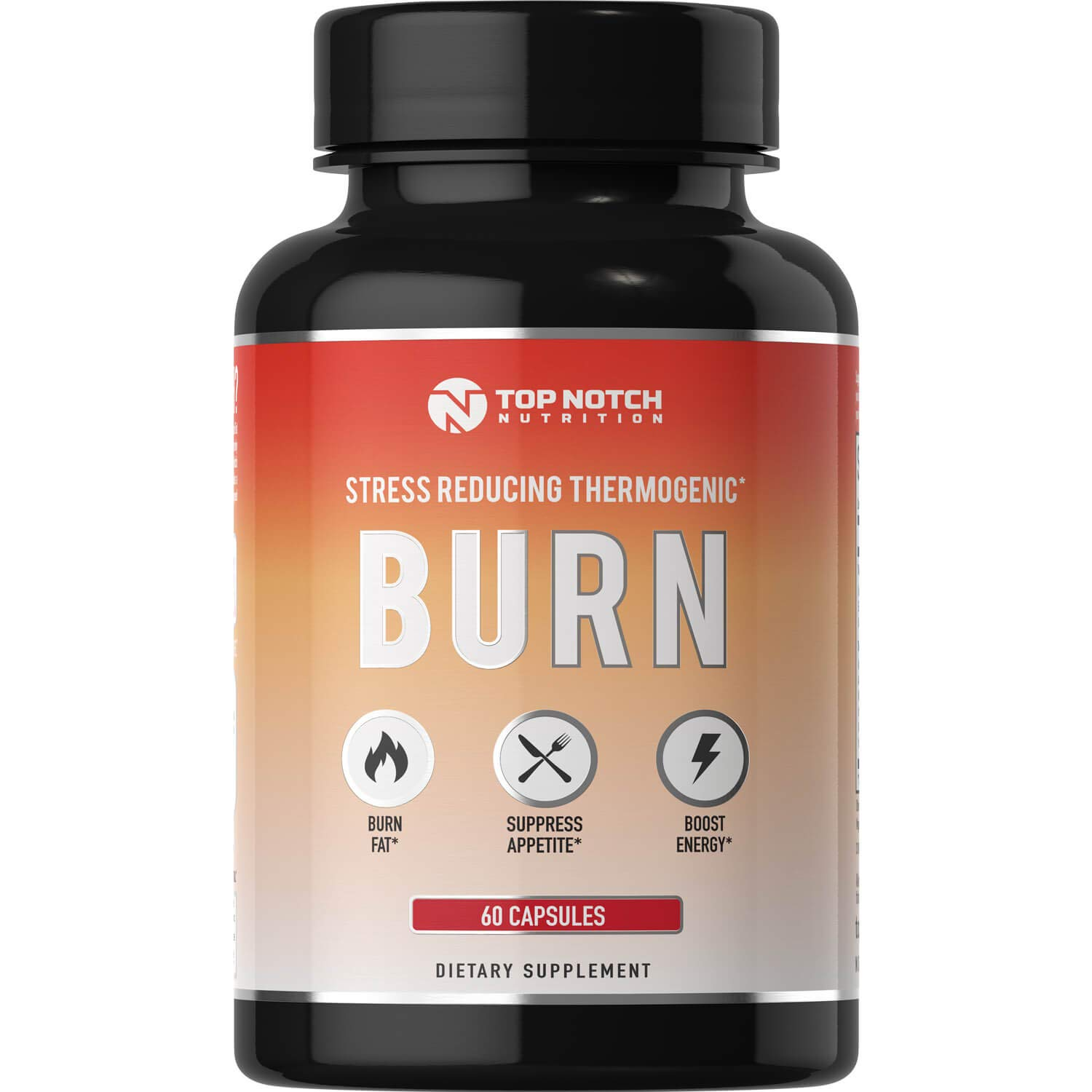Top Notch Nutrition 4 in 1 Thermogenic Fat Burning Weight Loss Pills for Women and Men Energy Boost Appetite Suppressant Diet Pills Boost Metabolism Burns More Calories & Manage Stress by TOP NOTCH NUTRITION