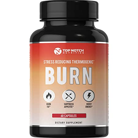 Top Notch Nutrition 4-in-1 Thermogenic Fat Burning Weight Loss Pills for Women Men. Energy Boost Appetite Suppressant Diet Pills Boost Metabolism, Burns More Calories Manage Cortisol.