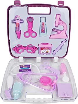 Andux Zone 14pcs Niños Médico Enfermera Estuche Caja Juego Educativo Juguete WJYX-01 (Púrpura): Amazon.es: Juguetes y juegos