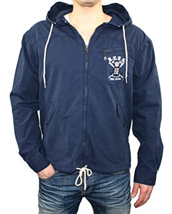 7a58a7e4ba7310 Polo Ralph Lauren Canvas Sommerjacke mit Kapuze navy (S)  Amazon.de ...