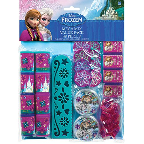 Disney Frozen Birthday Favour Toys and Prize Giveaway (48 Piece), Multi Color, 11 1/2