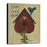 Love Lives Here! Framed Print 34.29''x25.00'' by Debbie McMaster