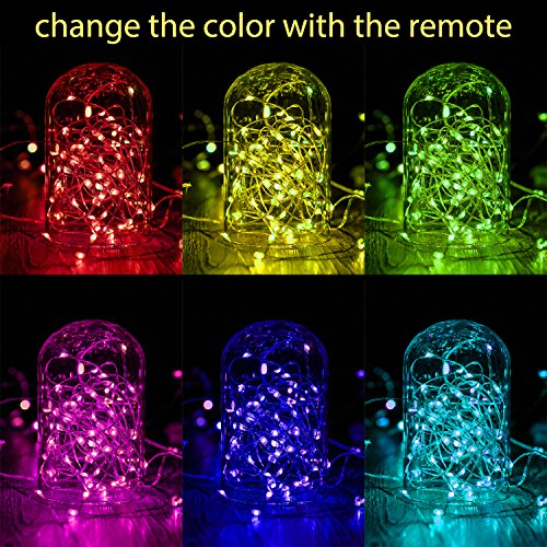 Kohree LED String Lights,USB Powered Multi Color Changing String Lights with Remote,50leds Indoor Decorative Silver Wire Lights for Bedroom,Patio,Outdoor Garden,Stroller,DecorTree.(16.4ft) by Kohree (Image #1)