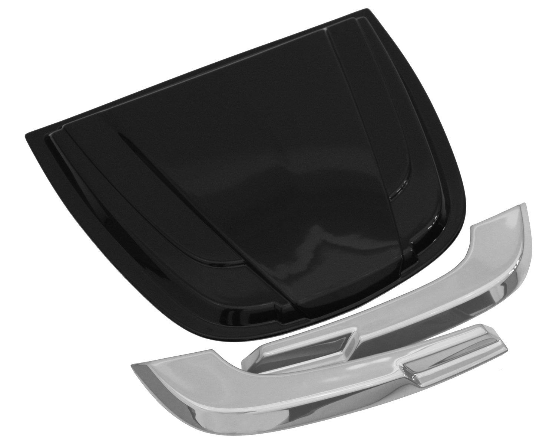 Auto Ventshade 80011 Universal Hood Scoop with Smooth Dark Smoke Finish AVS