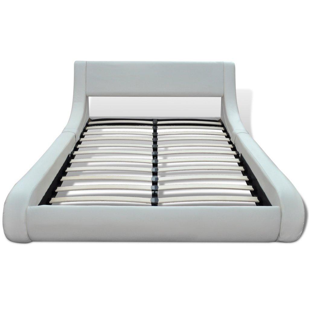 vidaXL Kunstlederbett Polsterbett Bettgestell Bett Rahmen Lattenrost ...