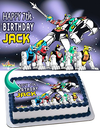 Price comparison product image Voltron Legendary Defender Personalized Cake Toppers Icing Sugar Paper A4 Sheet Edible Frosting Photo Birthday Cake Topper 1 / 4 ~ Best Quality Edible Cake Image!