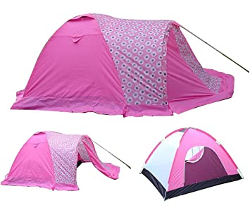 4 Man Double Skinned Tent Pink/ Pink Flower  sc 1 st  Amazon UK & 4 Man Double Skinned Tent Pink/ Pink Flower: Amazon.co.uk: Sports ...