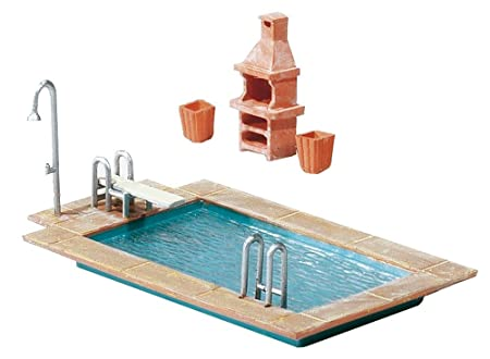 Faller 180542 Swimming Pool Gartenhaus Amazon De Garten