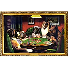 C.M. Coolidge (Bold Bluff, Dogs Playing Poker) Art Poster Print - 24x36