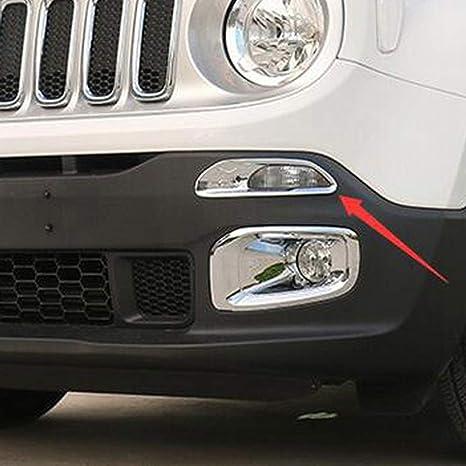 Turning luz de señal bisel embellecedor de proyección, ABS Cromado 2pcs/set