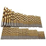 Polytree 99 Pcs Titanizing Coated HSS High Speed Steel Drill Bit Set Tool 1.5mm - 10mm