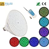 P&LED 120V 35W Color Changing Replacement Swimming Pool Lights Bulb LED PAR56 Light (switch control + remote control type) For Pentair Hayward Light Fixture,and For Inground Pool ,E27/E26