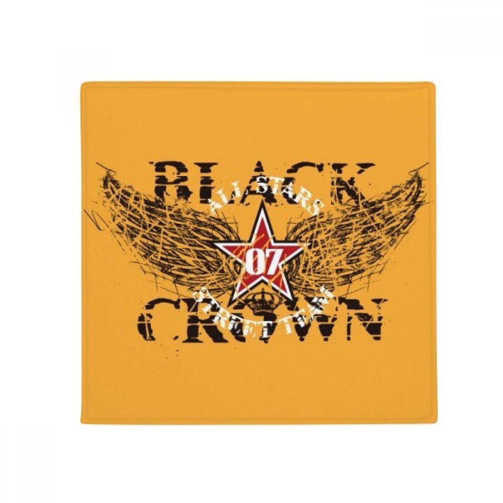 DIYthinker Graffiti Street Star Wings Crown Pattern Anti-Slip Floor Pet Mat Square Home Kitchen Door 80Cm Gift