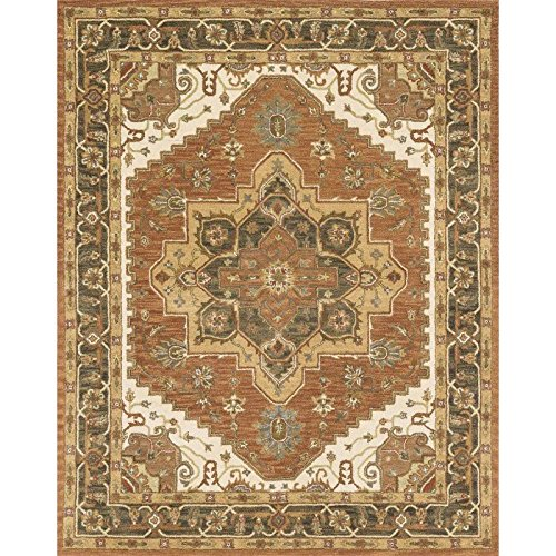 - Loloi Rugs MAPLMP48AF00160S Maple Collection Antique Rust Traditional Area Rug, 1'6