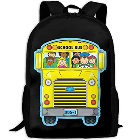2e5a36eebe09 Amazon.com  School Bus Cartoon Interest Print Custom Unique Casual ...