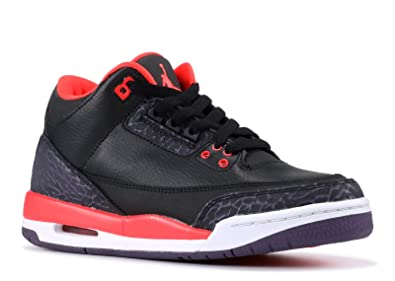 sports shoes a8f3b 47a8e Jordan Kids 3 Retro Gradeschool Black Crimson 398614-005 7 - 7 M US Big