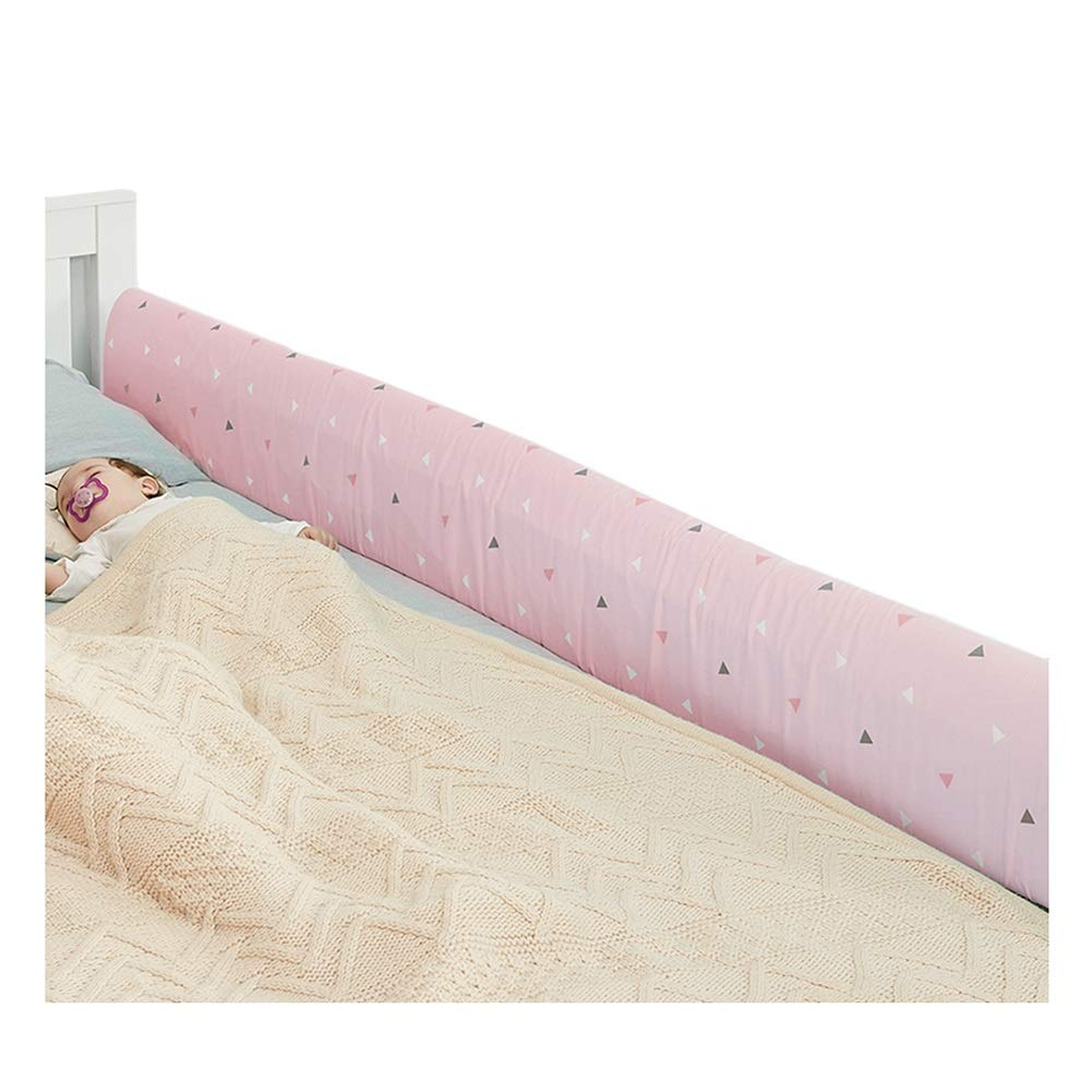 LIQICAI ベッドレール バンパー 安全ガード 幼児や子供のために、 サイドバンパーマットレスパッド、 高反発スポンジ クイックインストール (色 : ピンク, サイズ さいず : 1.42 M) 1.42 M ピンク B07QJWZGJ9