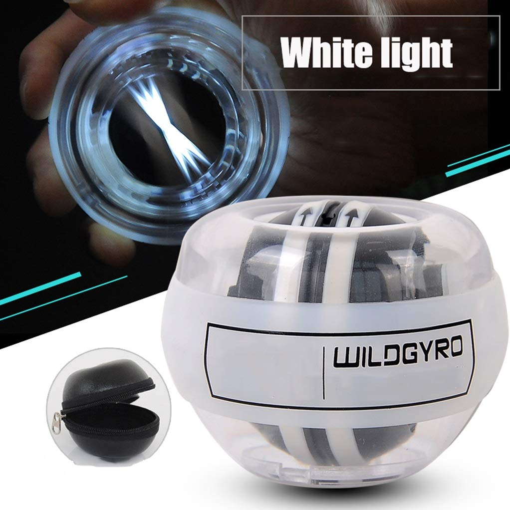 WMM - Wrist ball Supernova Models Gyroscopes - Wrist Strengthener, Grip Strengthening Gyro Ball (Color : White Light) by WMM - Wrist ball