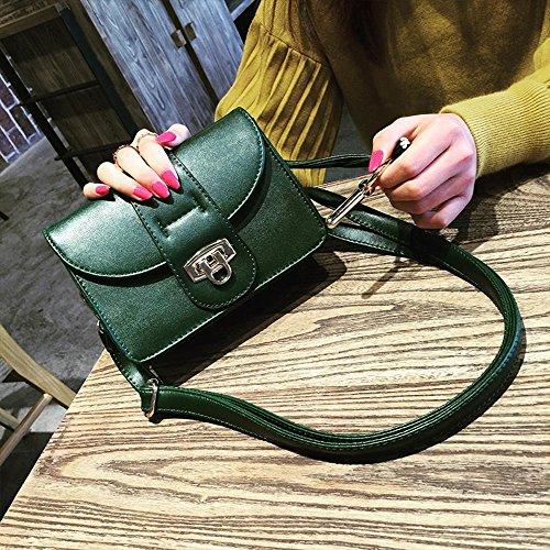 Aoligei Corée version style unique sac à bandoulière tendance fashion PU serrure retro sac sac A