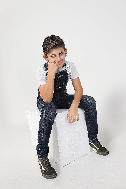 Wash Clothing Company Boys Slim Fit Darkwash Denim Bib-Overalls Age 4-14 Years Kids Dungarees