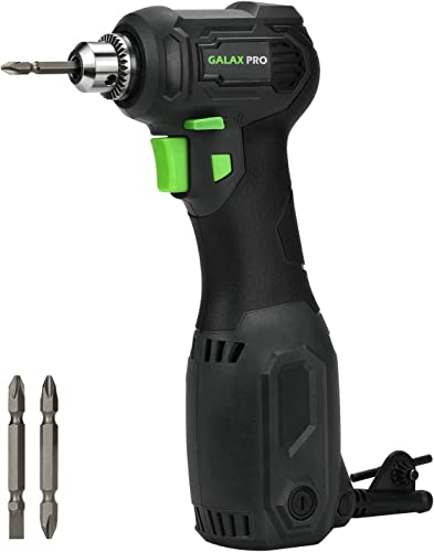 Angle Drill, GALAX PRO 3.5 Amps Close Quarter Power Drill 3 8 Right Angle Drill with Keyed Chuck, Ideal for Drilling for Wood, Plastics, Masonry, Metal and Screwdriving-GP56202
