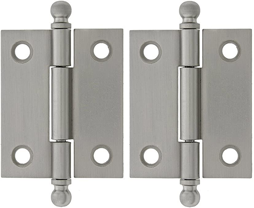 """Pair 2"""" SOLID SELF COLOURED BRASS HINGES 51 X 29 X 1.5 MM"""