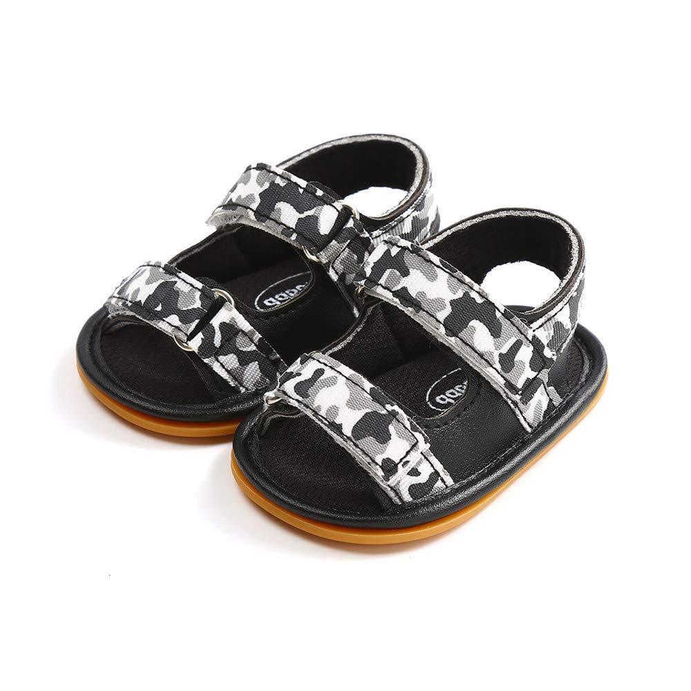 Babelvit Baby Infant Girls PU Leather Soft Closed Toe Summer Sandals Flower Princess Flat First Walker Shoes