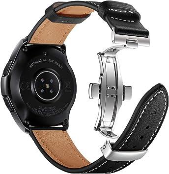 Myada Compatible para Samsung Galaxy Watch Active 40 mm Correa 20mm, Correas para Samsung Galaxy Watch 42 mm Piel, Correa para Samsung Gear Sport Cuero, Correa para Samsung Gear S2 Classic: Amazon.es: